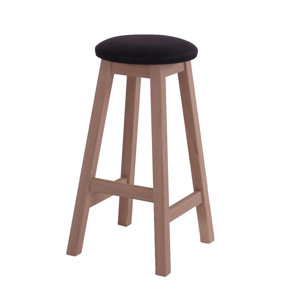 Image of   Køkken/barstol, massiv eg, sæbebehandlet