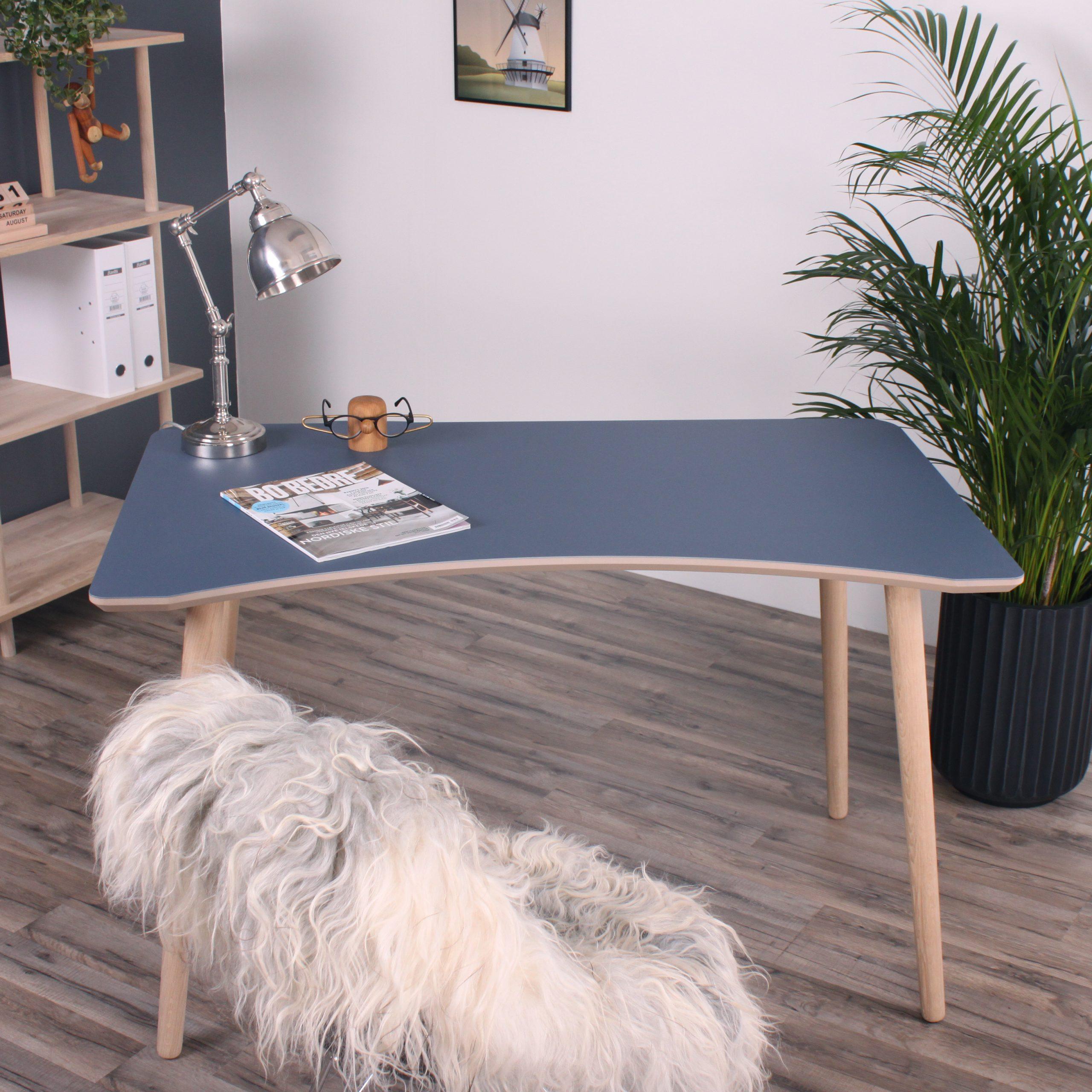 Washington skrivebord Blågrå Linoleum 2
