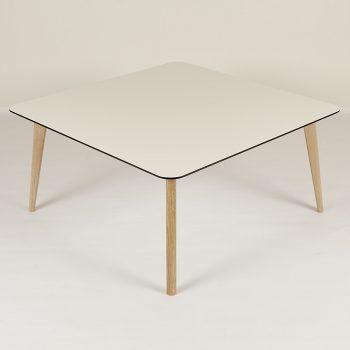 Sofabord Tarbes 95x95. hvid laminat