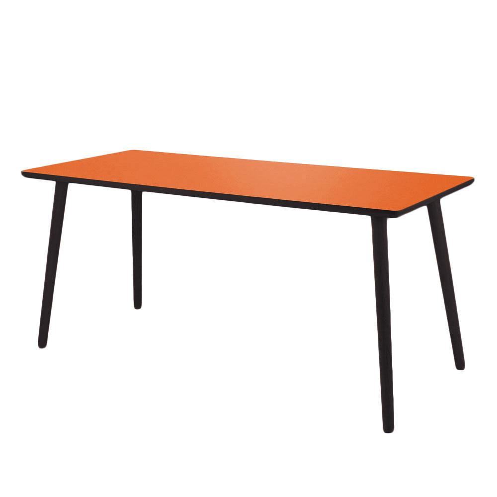 Image of   Skrivebord, Clementine, sort kant