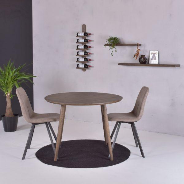 Spisebord, Bamble Ø100 roeget eg - miljo