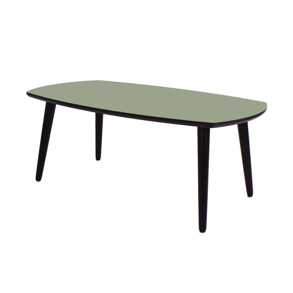 Image of   Linoleum sofabord, Olive 100x60 cm