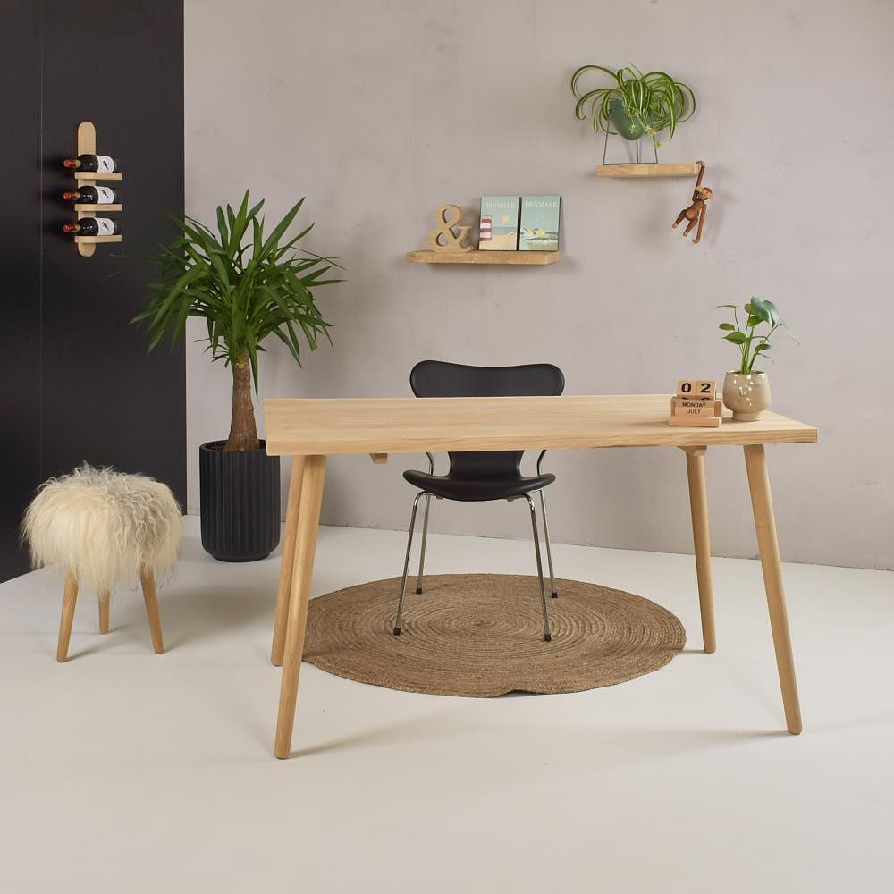 Image of   Planke skrivebord - eg, natur - Model Witten - 130x70 cm