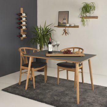 Linoleum spisebord miljo - grå