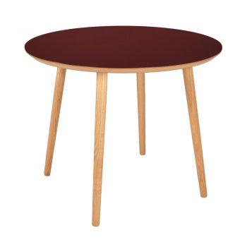 Spisebord Rund-linoleum-4154-burgundy