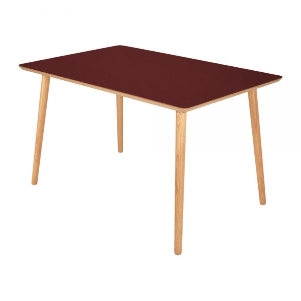 Spisebord-linoleum-4154-burgundy