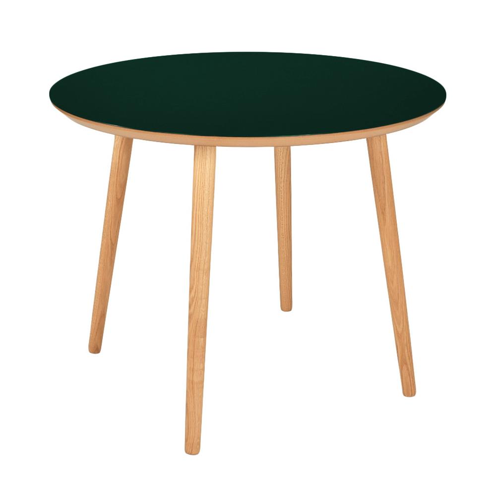 Image of   Rundt linoleum spisebord - Varberg - Mørke grøn