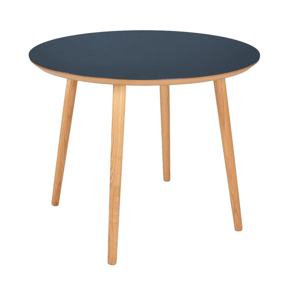 Image of   Rundt linoleum spisebord - Varberg - Blå